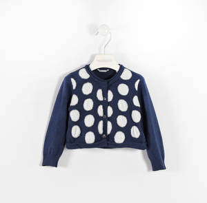 Cardigan in tricot a pois