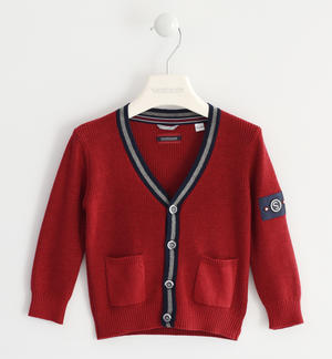 Cardigan in tricot ROSSO