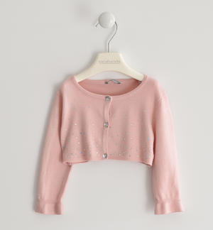 Cardigan in viscosa con strass ROSA