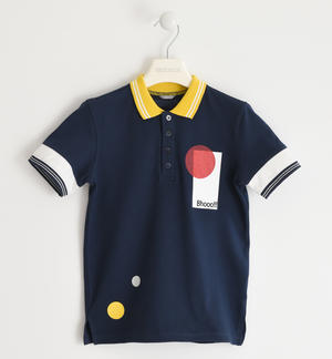 Colorata polo in piquet stretch BLU