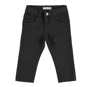 Comodo pantalone slim fit in twill stretch di cotone NERO