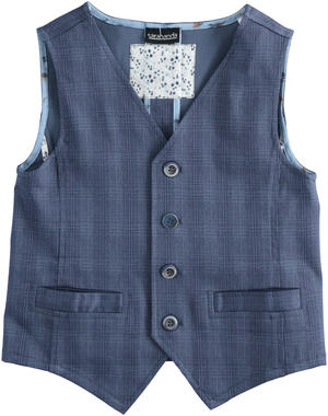 Elegante gilet in cotone stretch BLU