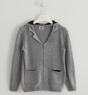 Full zip in tricot con toppe