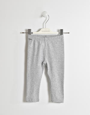 Leggings glitter in jersey stretch GRIGIO