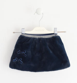 Mini gonna in eco pelliccia BLU