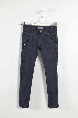Pantalone denim stretch per bambino BLU