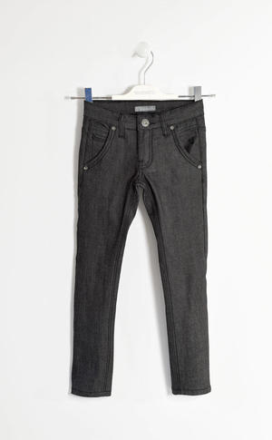 Pantalone denim stretch per bambino NERO