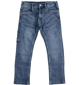 Pantalone in denim con tasca a cavallo BLU