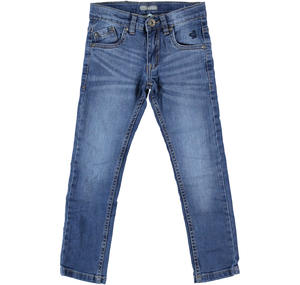 Pantalone in denim stretch per bambino BLU
