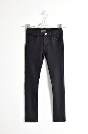 Pantalone tinta unita in felpa stretch NERO