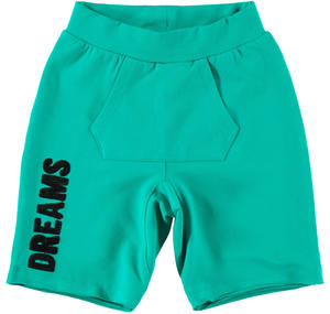 Shorts bambina in cotone stretch VERDE