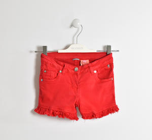 Shorts in twill stretch ROSSO