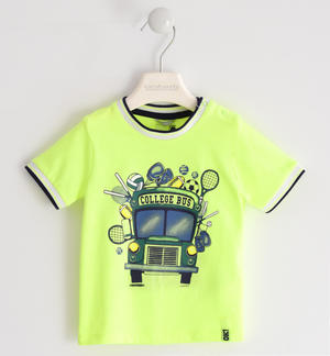 "Simpatica t-shirt ""college bus"" VERDE"