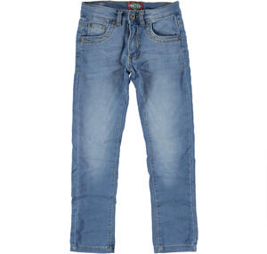 Pantalone in denim con portachiavi