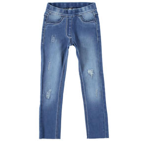 Jeans denim stretch per bambina