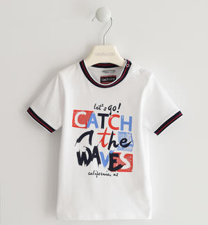 "T-shirt 100% cotone ""Catch the waves"""