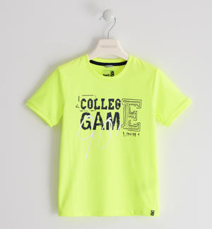 "T-shirt in cotone ""College Game"" VERDE"