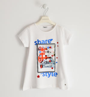 T-shirt Share style BIANCO